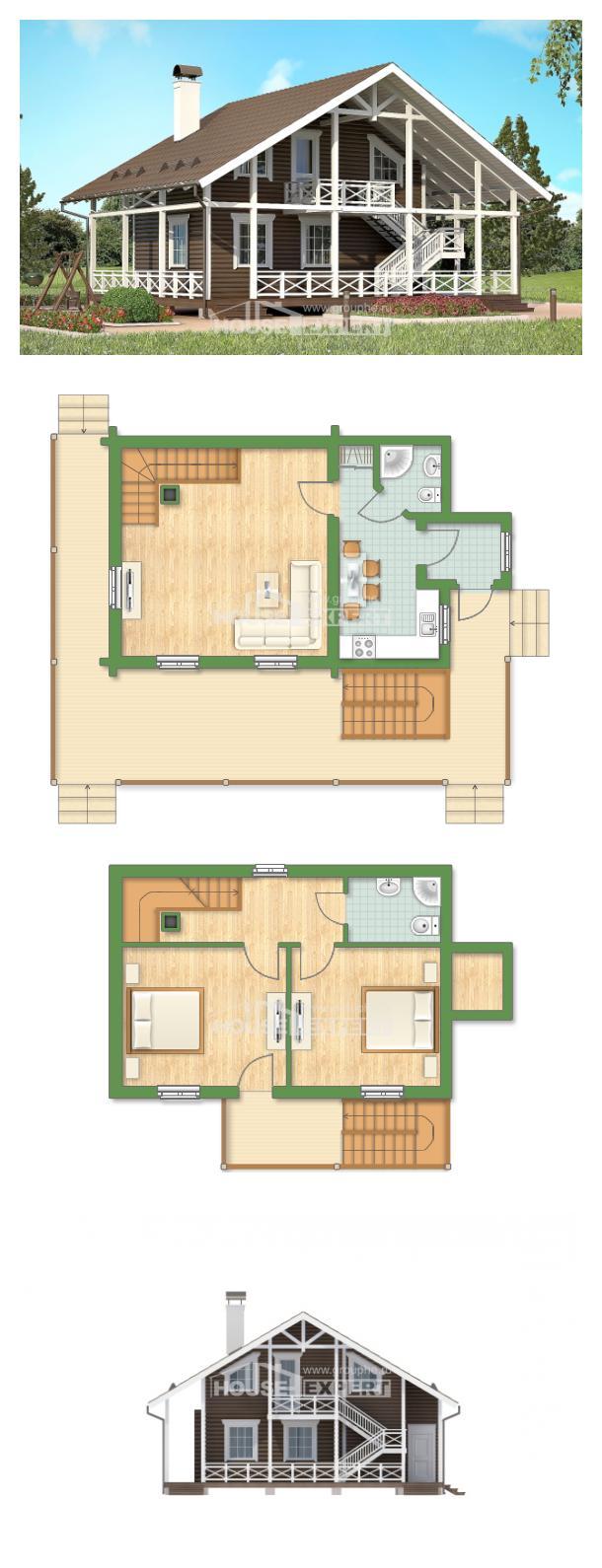 Проект дома 080-001-П   House Expert